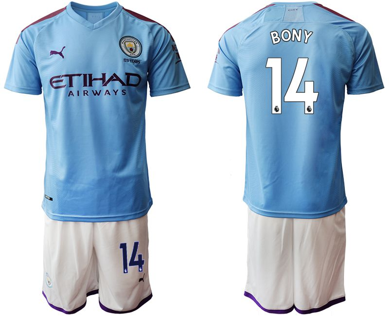 Men 2019-2020 club Manchester City home 14 blue Soccer Jerseys1