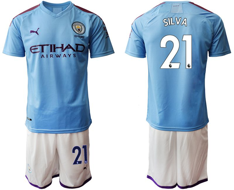 Men 2019-2020 club Manchester City home 21 blue Soccer Jerseys1