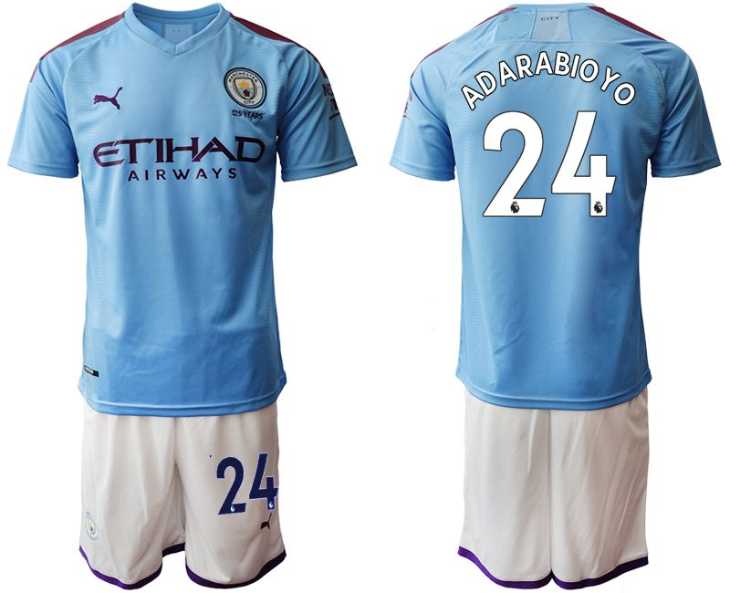 Men 2019-2020 club Manchester City home 24 blue Soccer Jerseys1