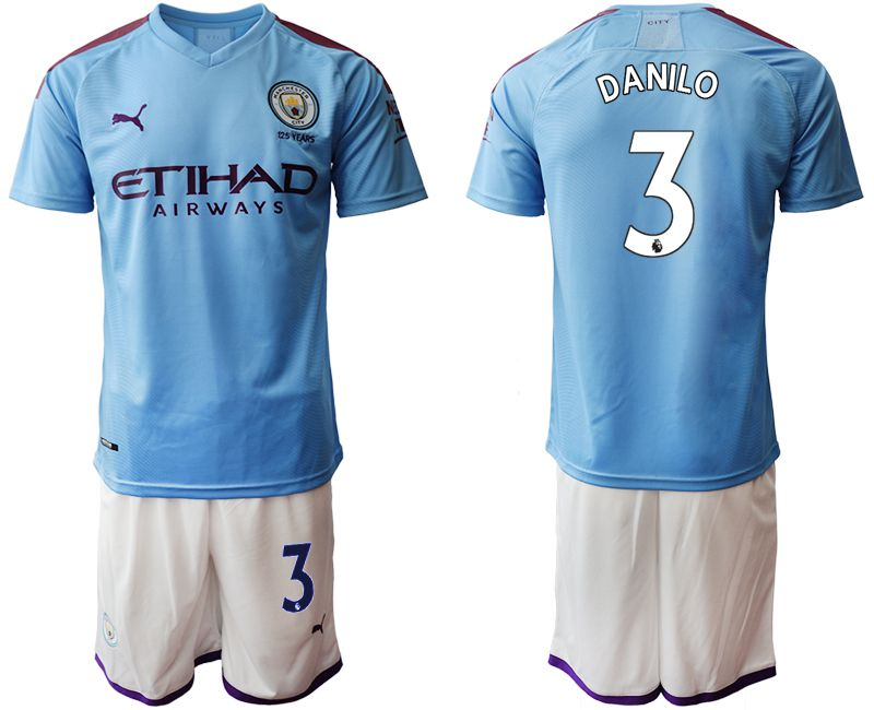 Men 2019-2020 club Manchester City home 3 blue Soccer Jerseys1