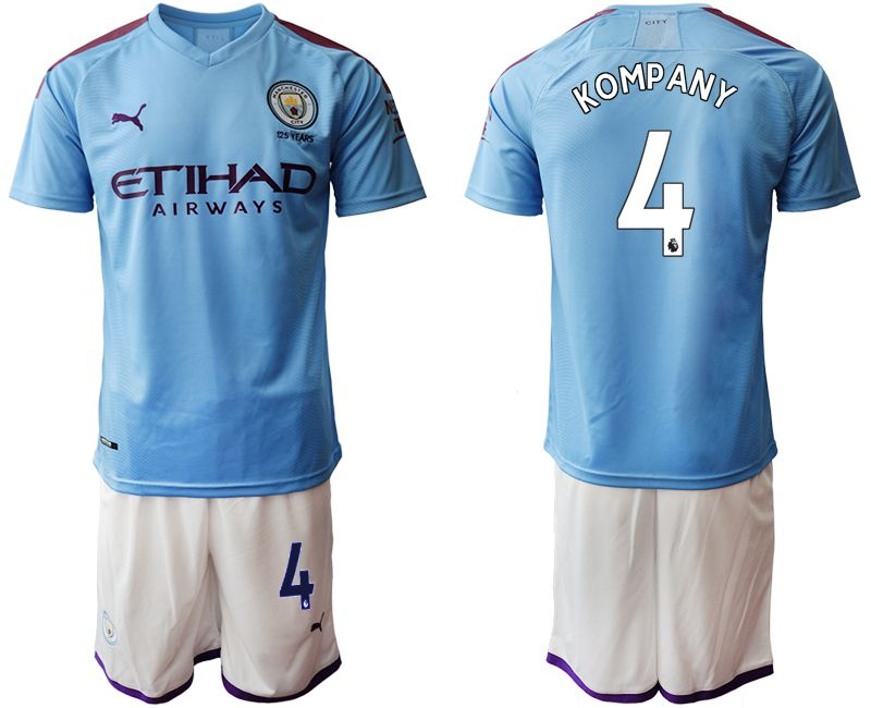 Men 2019-2020 club Manchester City home 4 blue Soccer Jerseys1