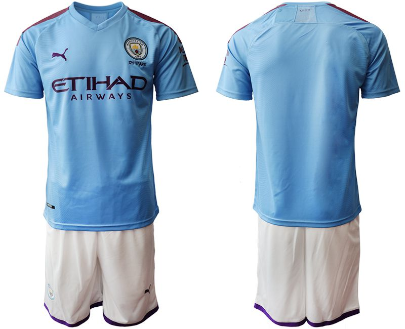 Men 2019-2020 club Manchester City home blue Soccer Jerseys