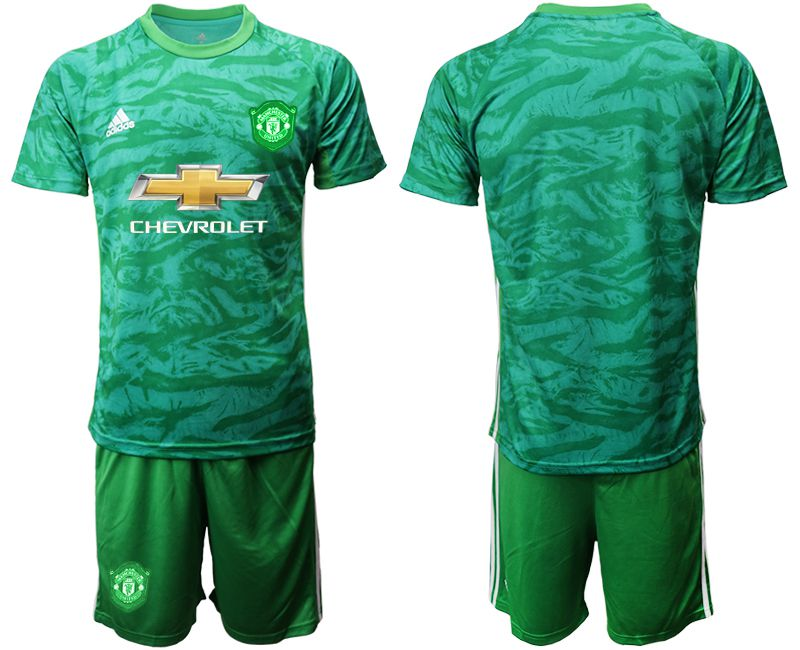 Men 2019-2020 club Manchester United green goalkeeper Soccer Jerseys
