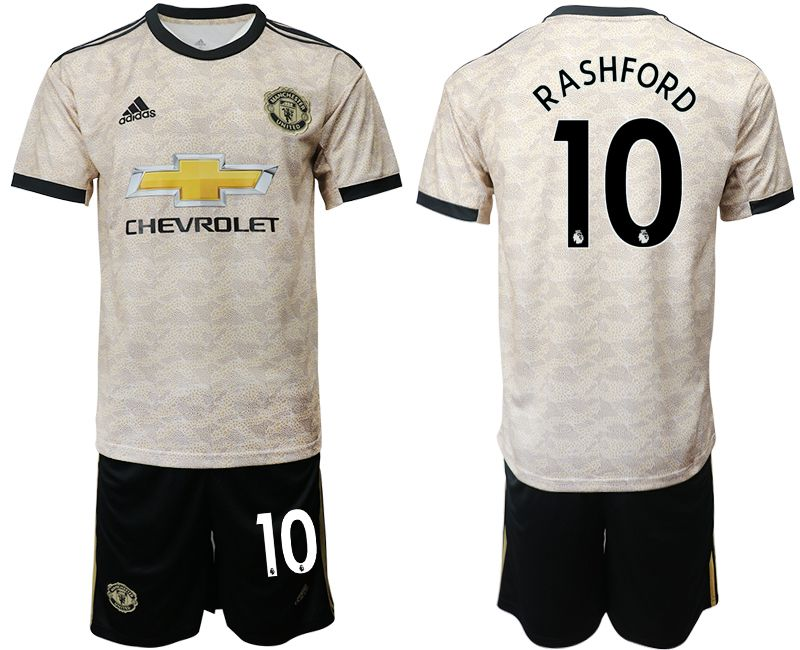 Men 2019-2020 club Manchester united away 10 grey Soccer Jerseys