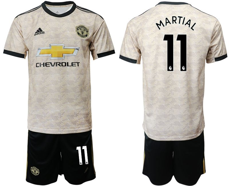 Men 2019-2020 club Manchester united away 11 grey Soccer Jerseys