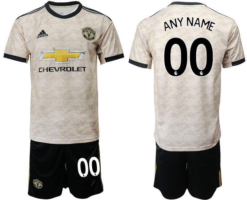 Men 2019-2020 club Manchester united away customized grey Soccer Jerseys