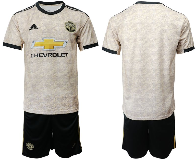 Men 2019-2020 club Manchester united away grey Soccer Jerseys