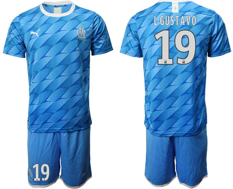 Men 2019-2020 club Olympique de Marseille away 19 blue Soccer Jerseys