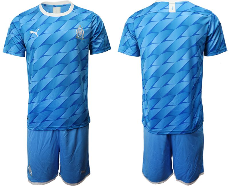 Men 2019-2020 club Olympique de Marseille away blue Soccer Jerseys