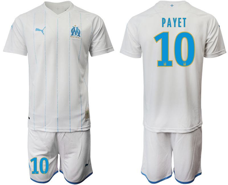 Men 2019-2020 club Olympique de Marseille home 10 white Soccer Jerseys