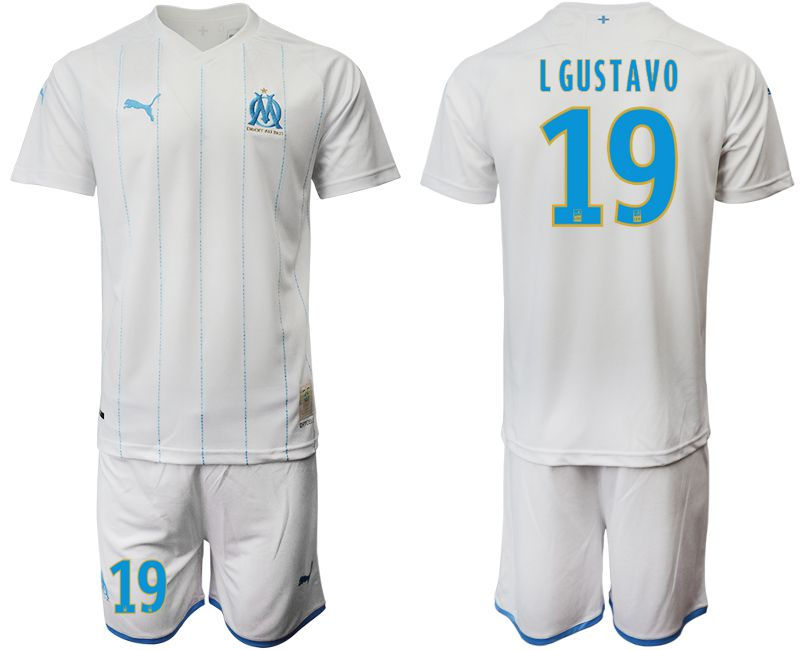 Men 2019-2020 club Olympique de Marseille home 19 white Soccer Jerseys
