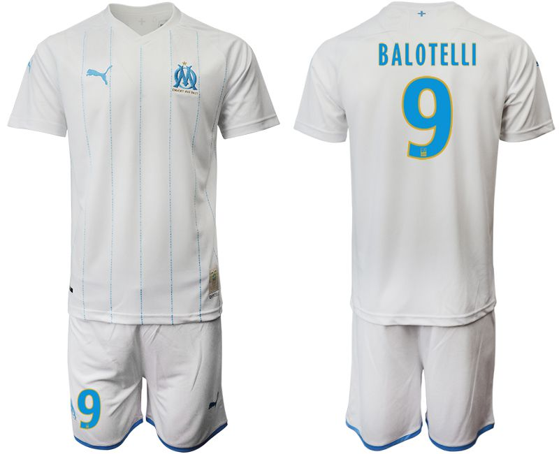 Men 2019-2020 club Olympique de Marseille home 9 white Soccer Jerseys