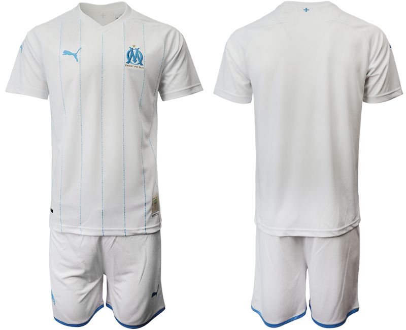 Men 2019-2020 club Olympique de Marseille home white Soccer Jerseys