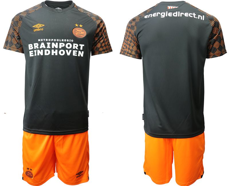 Men 2019-2020 club PSV Eindhoven away black Soccer Jerseys