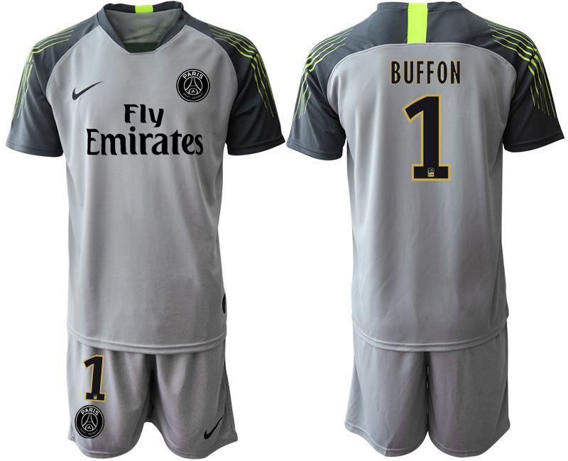 Men 2019-2020 club Paris St Germain gray goalkeeper 1 Soccer Jerseys
