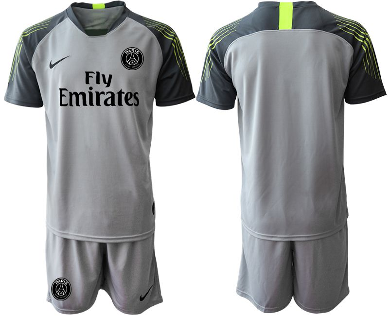 Men 2019-2020 club Paris St Germain gray goalkeeper Soccer Jerseys