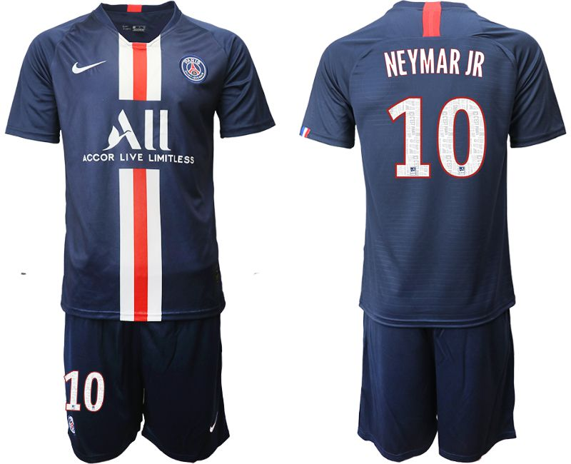 Men 2019-2020 club Paris St Germain home 10 blue Soccer Jerseys