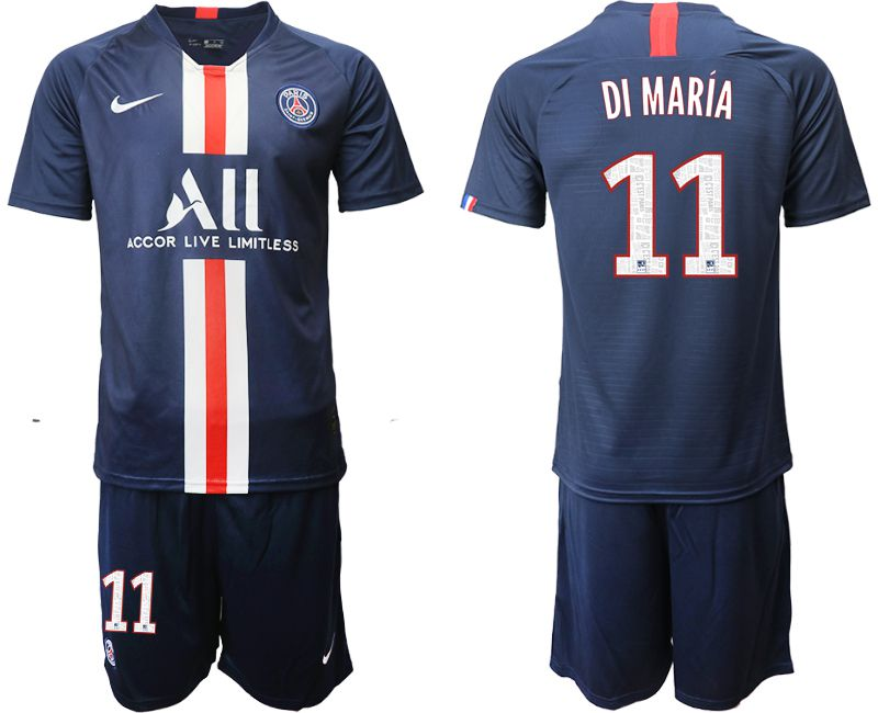 Men 2019-2020 club Paris St Germain home 11 blue Soccer Jerseys