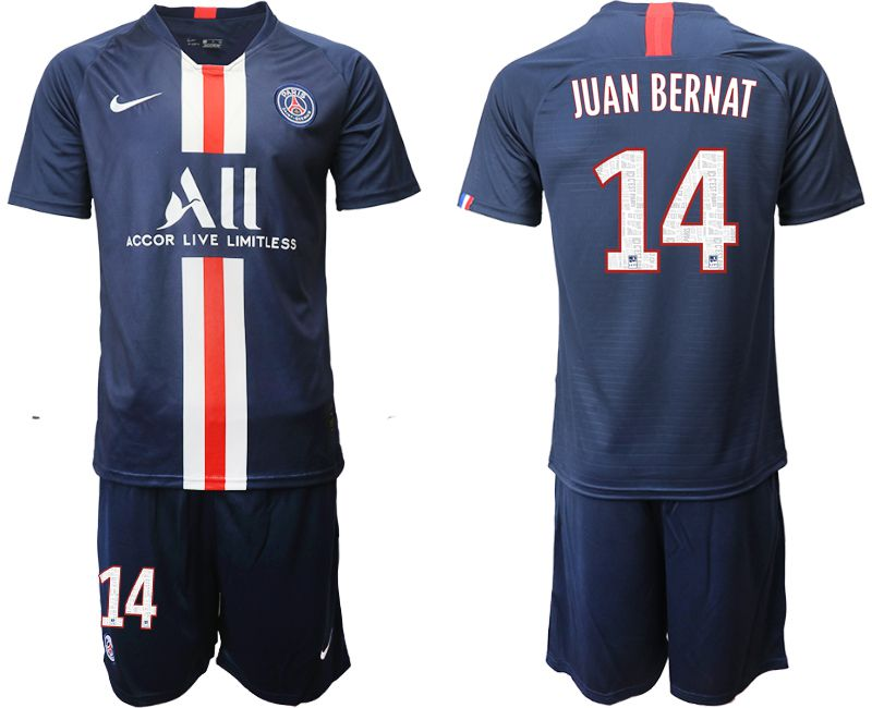 Men 2019-2020 club Paris St Germain home 14 blue Soccer Jerseys
