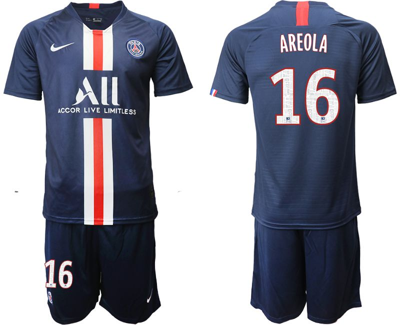 Men 2019-2020 club Paris St Germain home 16 blue Soccer Jerseys