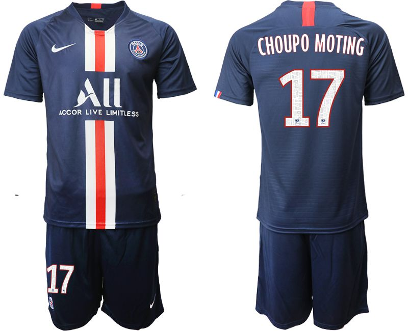 Men 2019-2020 club Paris St Germain home 17 blue Soccer Jerseys