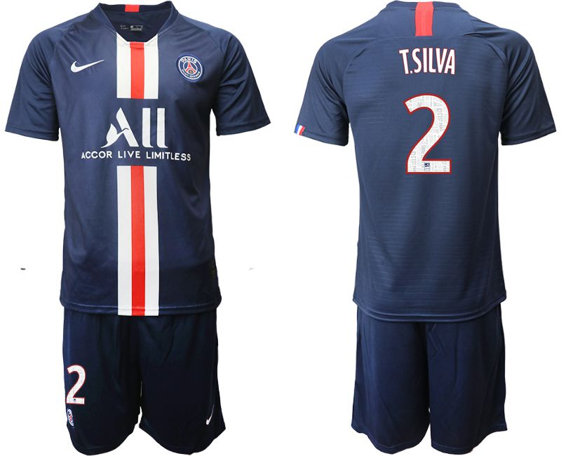 Men 2019-2020 club Paris St Germain home 2 blue Soccer Jerseys