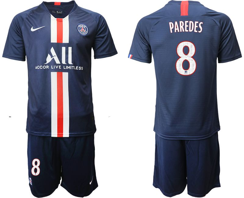 Men 2019-2020 club Paris St Germain home 8 blue Soccer Jerseys