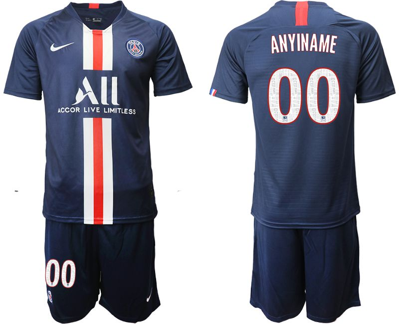 Men 2019-2020 club Paris St Germain home customized blue Soccer Jerseys