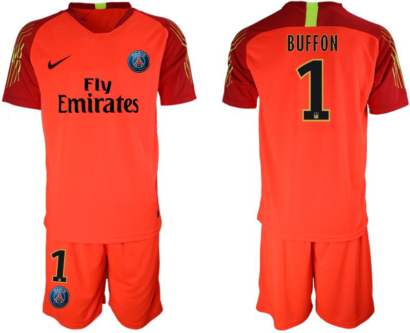 Men 2019-2020 club Paris St Germain red goalkeeper 1 Soccer Jerseys
