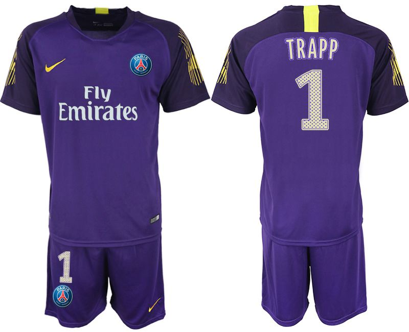 Men 2019-2020 club Paris St Germain violet goalkeeper 1 Soccer Jerseys