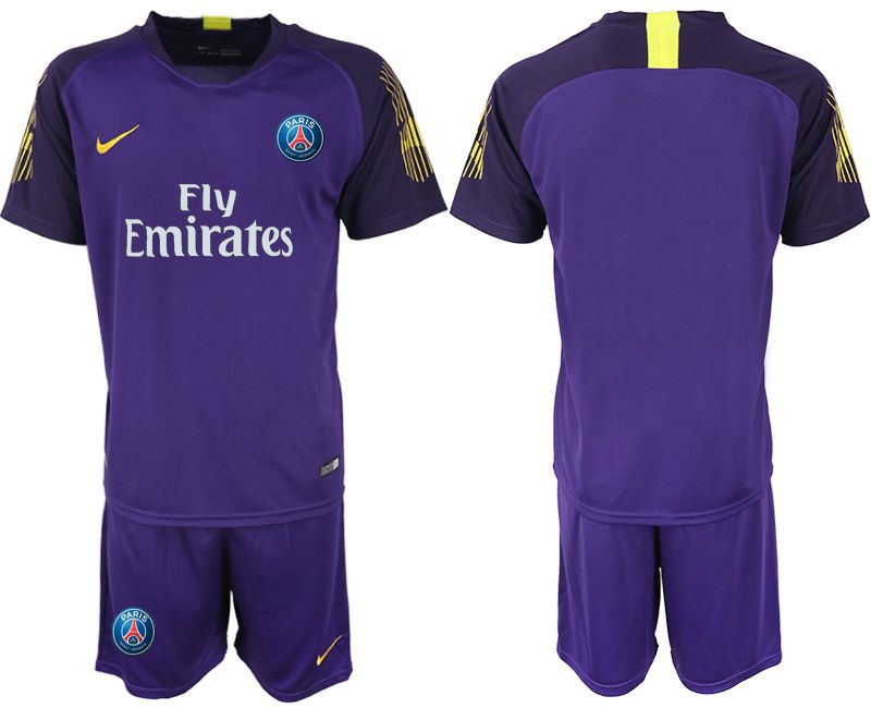 Men 2019-2020 club Paris St Germain violet goalkeeper Soccer Jerseys