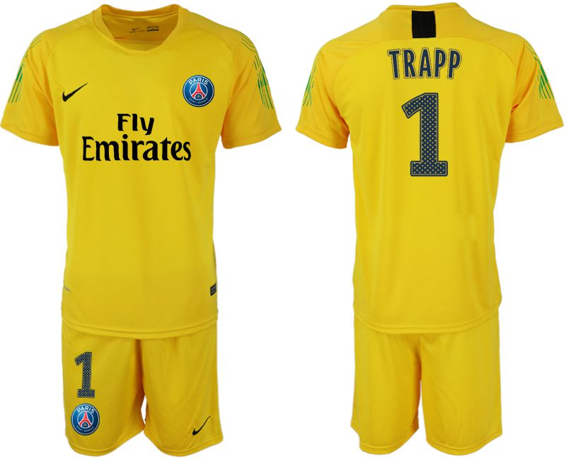 Men 2019-2020 club Paris St Germain yellow goalkeeper 1 Soccer Jerseys