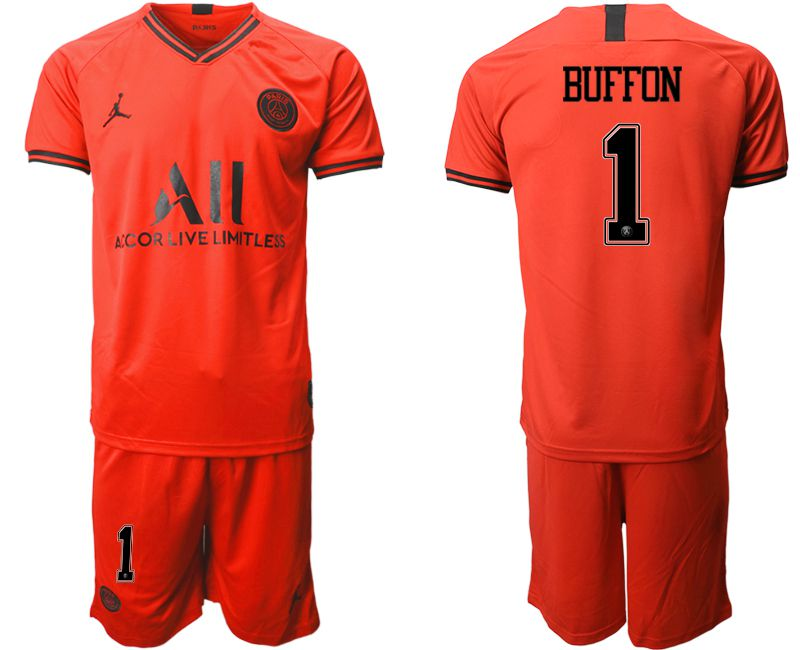 Men 2019-2020 club Paris St German away 1 red Soccer Jerseys