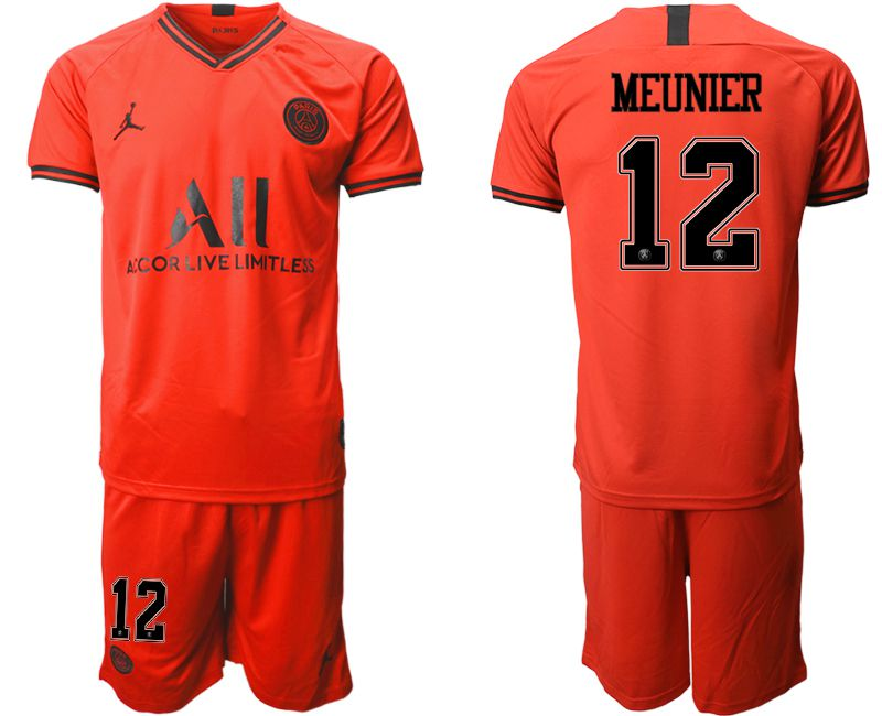 Men 2019-2020 club Paris St German away 12 red Soccer Jerseys