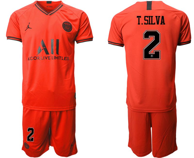Men 2019-2020 club Paris St German away 2 red Soccer Jerseys