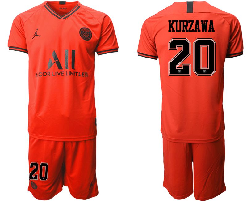Men 2019-2020 club Paris St German away 20 red Soccer Jerseys