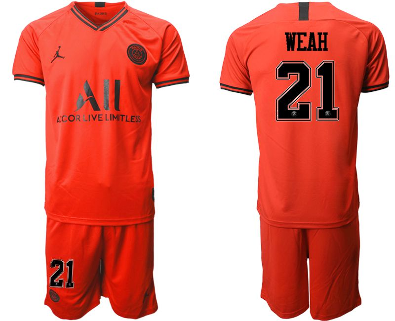 Men 2019-2020 club Paris St German away 21 red Soccer Jerseys