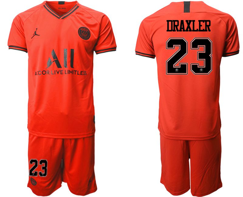 Men 2019-2020 club Paris St German away 23 red Soccer Jerseys