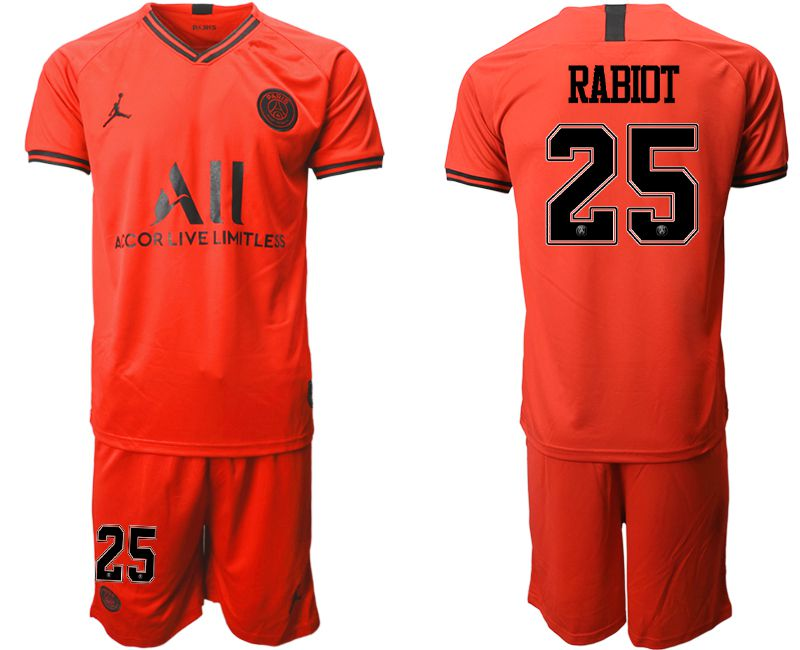 Men 2019-2020 club Paris St German away 25 red Soccer Jerseys