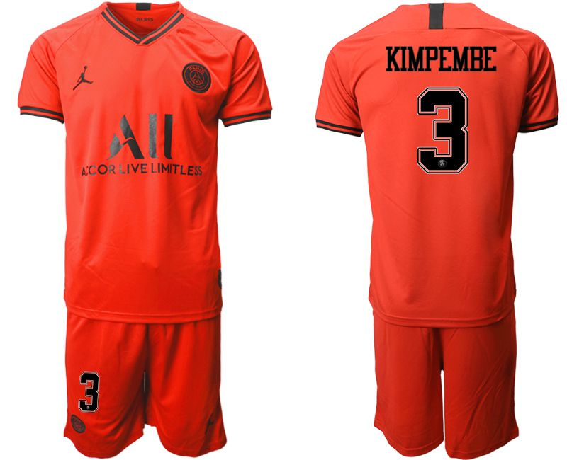 Men 2019-2020 club Paris St German away 3 red Soccer Jerseys