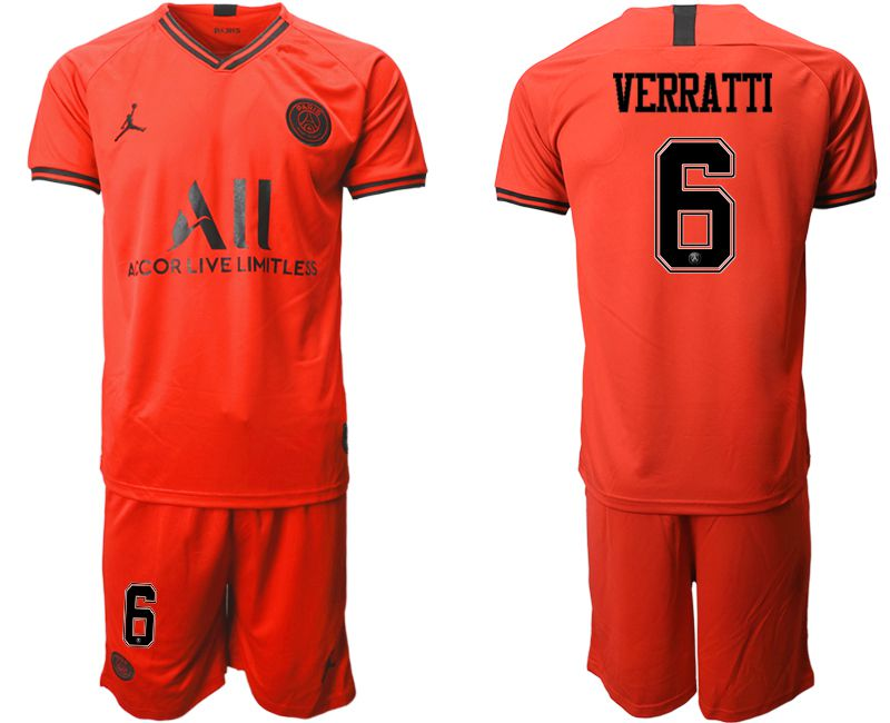 Men 2019-2020 club Paris St German away 6 red Soccer Jerseys