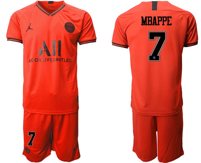 Men 2019-2020 club Paris St German away 7 red Soccer Jerseys