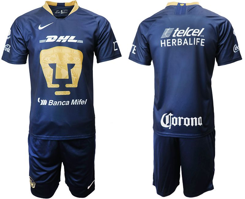 Men 2019-2020 club Pumas UNAM away blue Soccer Jerseys