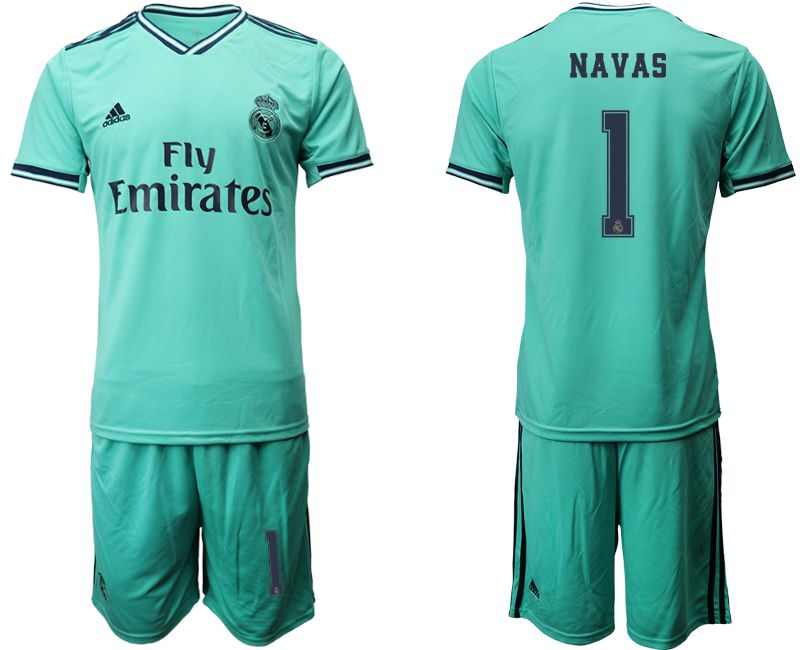 Men 2019-2020 club Real Madrid away 1 green Soccer Jerseys
