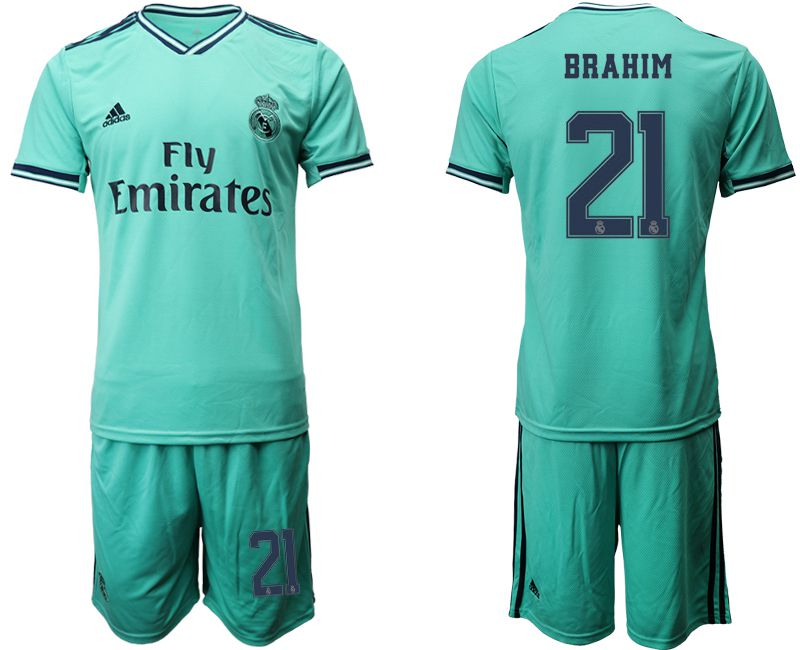 Men 2019-2020 club Real Madrid away 21 green Soccer Jerseys