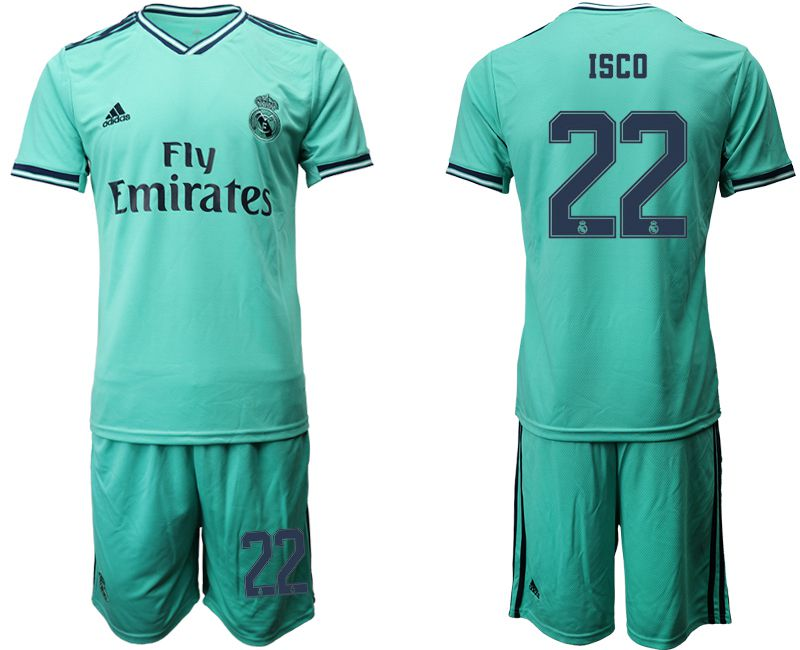 Men 2019-2020 club Real Madrid away 22 green Soccer Jerseys