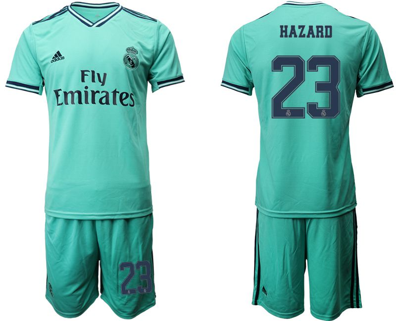 Men 2019-2020 club Real Madrid away 23 green Soccer Jerseys