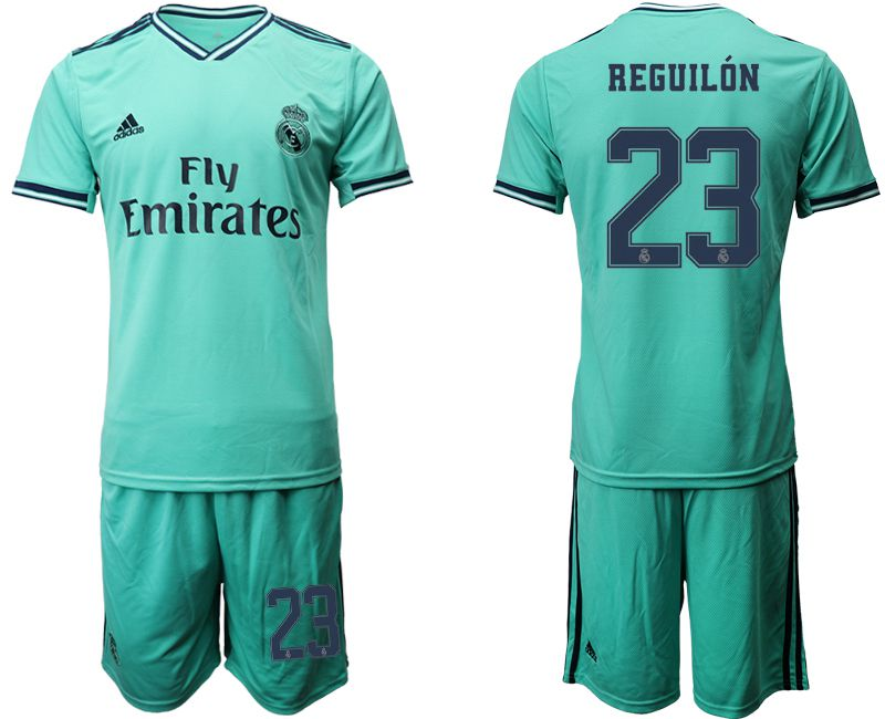 Men 2019-2020 club Real Madrid away 23 green Soccer Jerseys1