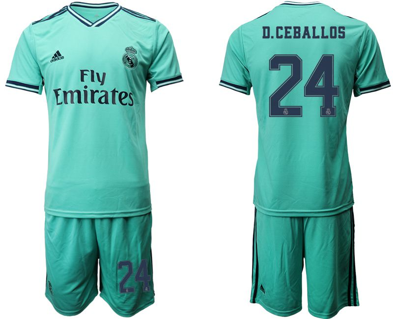 Men 2019-2020 club Real Madrid away 24 green Soccer Jerseys