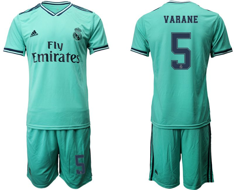 Men 2019-2020 club Real Madrid away 5 green Soccer Jerseys